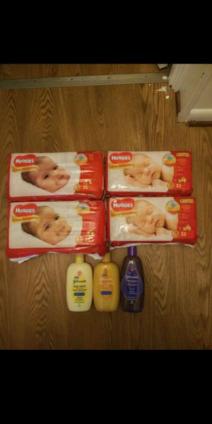 Huggies size newborn and one for Sale in Rockville, MD