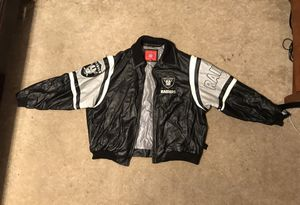 Vintage 90s leather Raiders Jacket for Sale in Hayward, CA
