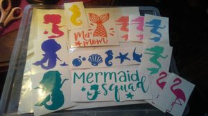 Mermaid squad car decal sticker lot for Sale in York, PA