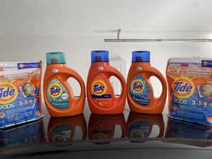 Tide bundle $15 FOR EVERYTHING IN PICTURE Pick up Vegas drive & rainbow 89108 for Sale in Las Vegas, NV
