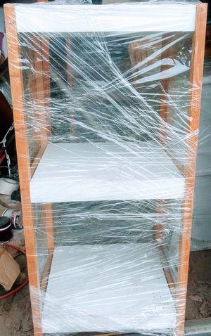 White wood 3 tier shelves for Sale in Pico Rivera, CA