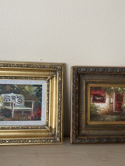2pcs of beautiful framed paintings for Sale in Winter Garden,  FL