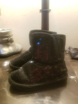 Black Sequins Boots Size: 8 girls for Sale in Monroeville, PA