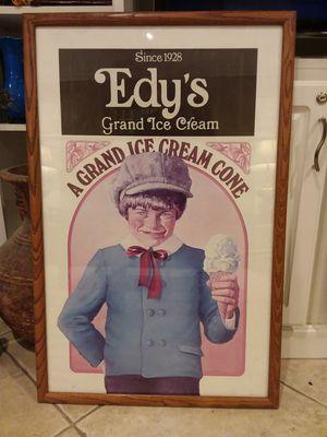 Edy's Grand Ice Cream Vintage framed poster for Sale in Avondale, AZ