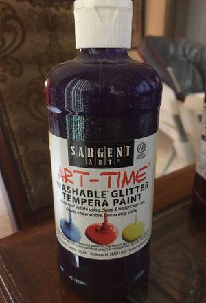 Sargent art art time glitter violet washable glitter tempera paint 16oz bottle for Sale in Pembroke Pines, FL