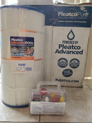 2 Pleatco PA90 Pool Filters and Chemical Testing Kit. for Sale in Land O Lakes, FL