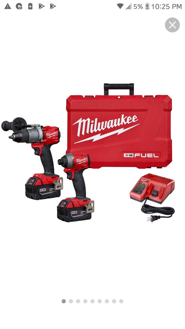 Milwaukee m18 fuel drill combo kit
