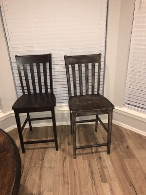 2 wooden bar stool chairs! for Sale in Houston, TX