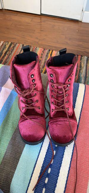 Girl Size 13 velvet boots for Sale in Oceanside, CA