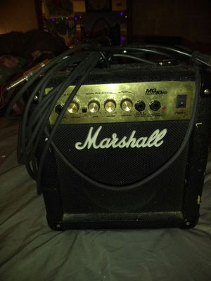 Marshall guitar amp with 20 foot guitar chord for Sale in St. Louis, MO