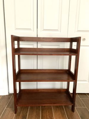 Solid wood bookcase / plant shelf for Sale in Boca Raton, FL