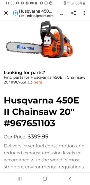 "Husqvarna 450 Chainsaw 20"" for Sale in Miami, FL"