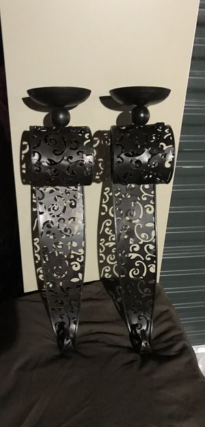 "Wall Candle holders / Sconces Pair of Two 24""H x 5"" W for Sale in Las Vegas, NV"