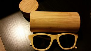 Bamboo sunglasses with bamboo case for Sale in Crofton, MD