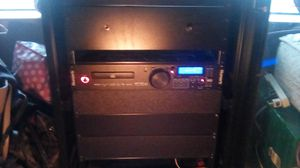 Sanus component rack professional dj rack with numark mp103 with USB cd player for Sale in Fresno, CA