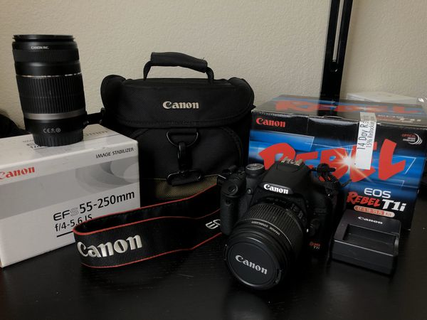 Canon EOS Rebel T1i Camera with Lens Bundle