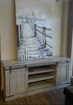 """💦. BRAND NEW. 💦Carynhurst Whitewash Large TV Stand 