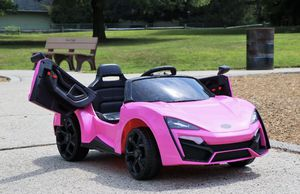 🔥 NEW First Drive Lykan Style Pink 12v Kids Cars - 12V Dual Motor Ride on Toy Car for Sale in Miami, FL