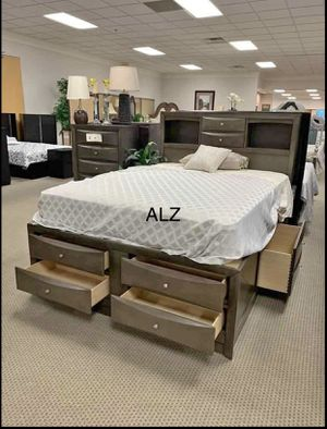 💁‍♀️Best Offer 💁‍♀️- $39 Down 👍👍BedRoom Set (4-PIECE QUEEN bed,Dresser,mirror,Nightstand 🌸🌸 for Sale in Houston, TX