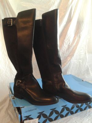 Liz Claiborne black boots Dallas Riding Festival Block Heel for Sale in Pinellas Park, FL