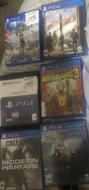 3 PS4 games in boxes for Sale in Jacksonville, FL