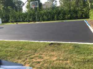 Before and after drive way painting tar basketball courts etc setting up hoops for Sale in Queens, NY