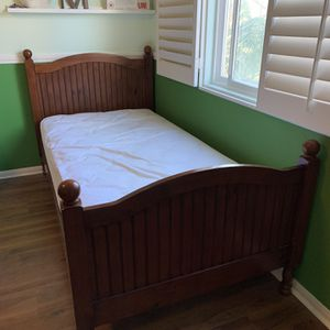 Pottery Barn Twin Bed + Sealy Mattress for Sale in San Diego, CA