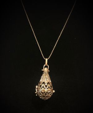 Rhinestone studded hinged pendant necklace-essential oil perfume holder for Sale in Moon, PA