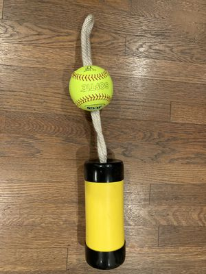 The Composite Xelerator Fastpitch Softball Pitching Trainer and Warm Up Tool with 12 Inch Premium Leather Indoor Ball for Improved Grip for Sale in Montebello, CA