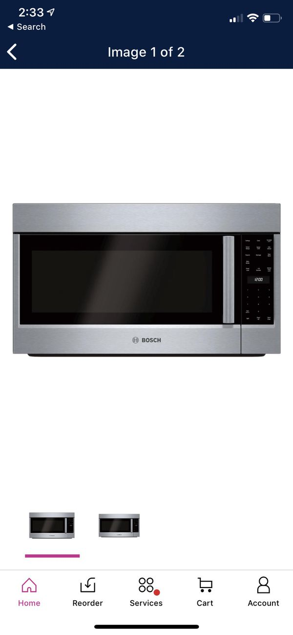 Over the Range Microwave Bosch 500 in Stainless Steel