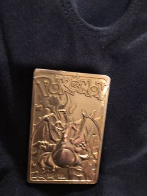 Pokemon CHARIZARD Flame 1999 Gold Plated Collectible trading card for Sale in Narberth, PA