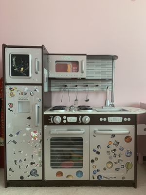 Kids Kitchenette including Microwave, pots, fruits, and vegetables for Sale in Fairfax, VA