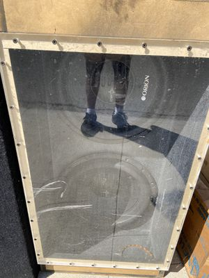 Orion speaker box two 15 inch for Sale in Whittier, CA