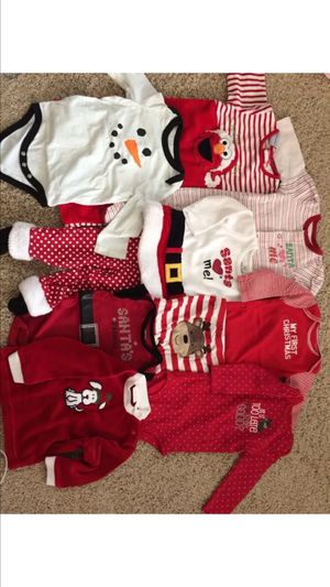 Baby girl Christmas clothes lot size 9 month for Sale in Rockville, MD