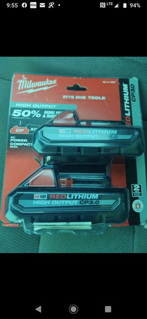 Milwaukee 2 pack batteries new I'll not a penny less for Sale in Modesto, CA