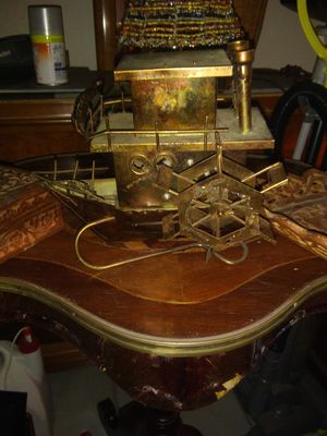 Handmade vintage copper wheel wheel Paddle Wheel boat music box plays Moon River for Sale in Pompano Beach, FL