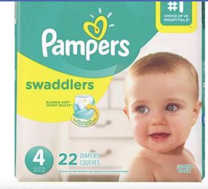 New pampers Swaddlers size 4. I have 23 4.50 each for Sale in Raleigh, NC