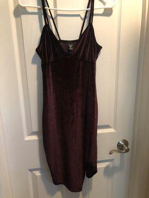 Burgundy Velvet dress in Size M for Sale in Santa Ana, CA