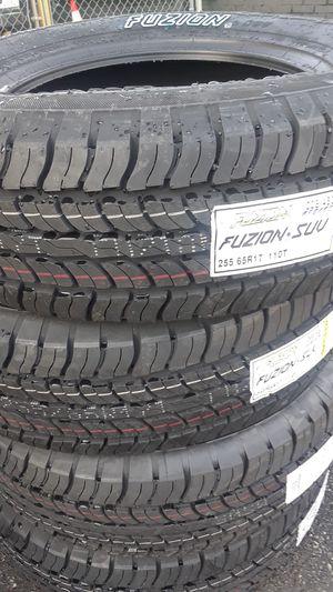Set of brand new tires.fuzion 255/65 R 17 110T. for Sale in Atlanta, GA