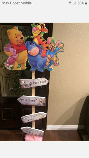 Baby shower decoration Winnie the Pooh and Friends baby shower sign for Sale in Fontana, CA