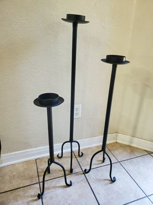 Wrought Iron Candle Holder- Set of 3 for Sale in San Antonio, TX