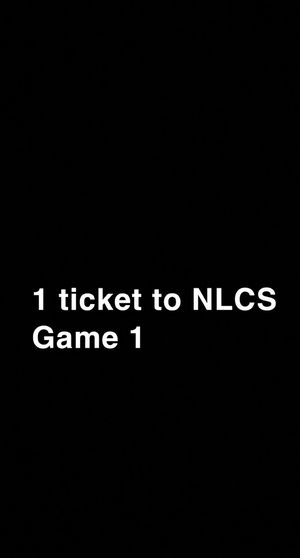 NLCS game 1 ticket for Sale in Buffalo, NY