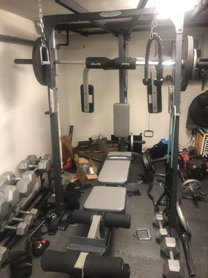 Smith multi purpose bench everything included except weights for Sale in New Hyde Park, NY