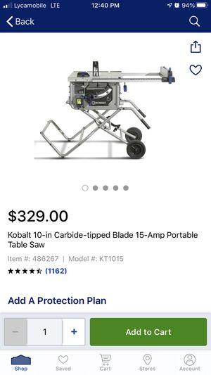 Kobalt table saw for Sale in Alexandria, VA