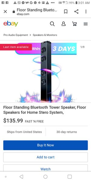 Soundlogic standing lightning bluetooth speaker.lists for $135.00 ,Your Price$35 for Sale in Tampa, FL