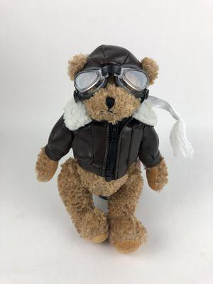 "Unipak Teddy Bear Pilot Plush Stuffed Animal Toy 11"" Bomber Jacket Flying Hat for Sale in Orlando, FL"