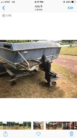 Boat for parts and 21' Load rite trailer for Sale in Monroe Township,  NJ