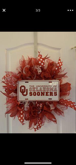 Oklahoma Sooners Wreath for Sale in Avondale, AZ