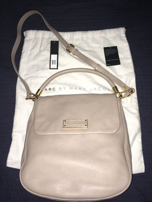 Rare Marc jacobs laeticia leather cement too hot to handle flap hobo purse bag nude tan crossbody cross body Laetitia lil ukita grey taupe messenger for Sale in Phoenix, AZ