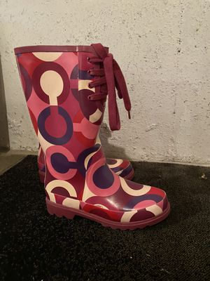 Coach rain boots for Sale in Hammond, IN